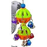 Bonka Bird Toys 1509 Tuff Bellpull Tower - Jaula para Loros, Color Gris Africano Producto de Calidad Hecho a Mano en Estados Unidos.