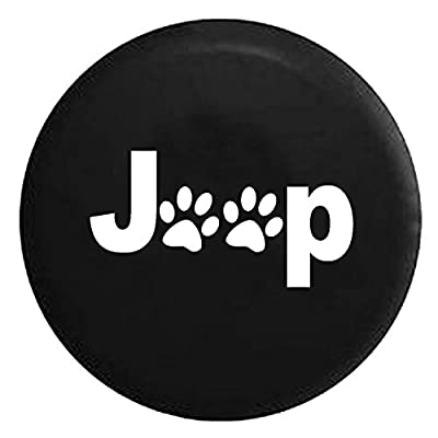 Jeep Paw Prints Animal Lover - Color Options Spare Jeep Wrangler Camper SUV Tire Cover