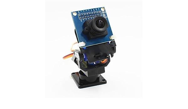 Black OV7670 Camera Set for Robot//R//C Car Accessories 2-Axis FPV Camera Cradle Head Blue