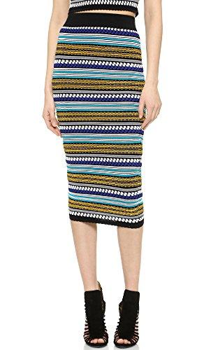 Torn by Ronny Kobo Women's Ronny Skirt, Multi Blue, X-Small