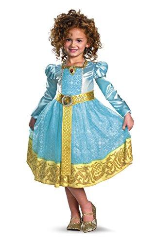 Brave Merida Deluxe Costume, Auqa/Gold,