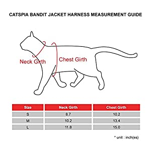 CATSPIA Bandit Jacket Harness, Large, Orange