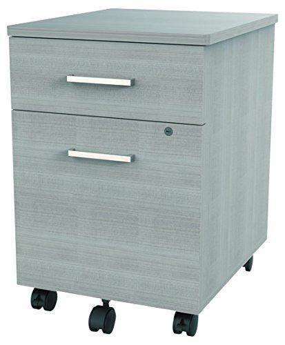 Linea Italia SV752ASH Seven Series Mobile Pedestal File, Box/File Drawer, Ash