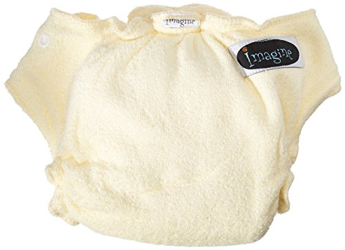 Imagine Baby Products Rayon From Bamboo Fitted Snap Diaper, Marigold ()
