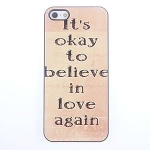 GDW No está mal diseño del caso duro de aluminio para el iPhone 5/5S