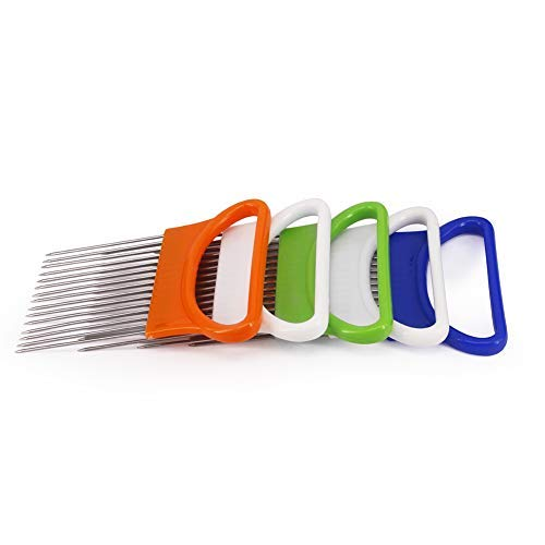 BEN PAUL Tomato Onion Vegetables Slicer Cutting Aid Holder Guide Slicing Cutter Safe Fork by Ben Paul
