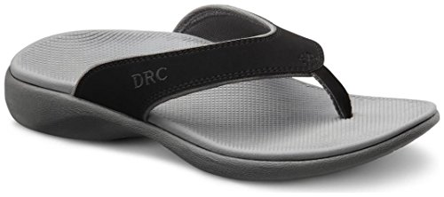 Dr. Comfort Mens COLLIN Black Diabetic Orthotic Thong Slipper (10W, - 5310 Leather