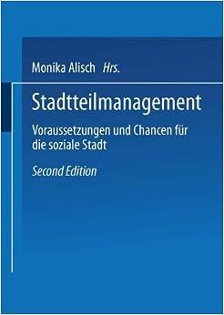 Book Stadtteilmanagement: Voraussetzungen und Chance für die soziale Stadt (German Edition)