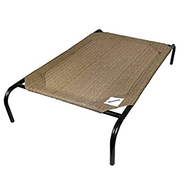 The Original Elevated Pet Bed By Coolaroo - Medium Nutmeg