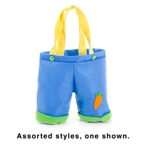 2 Easter Bunny Pants Bag Treat Gift Tote Basket Candy Egg Hu