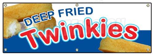 "72"" DEEP FRIED TWINKIES BANNER SIGN warm homemade fryed s..."