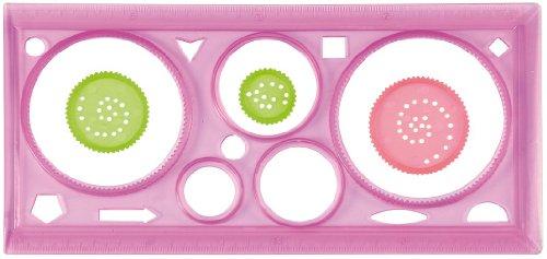 Eduplay Muster Zeichenschablone, 5 Kreisgrößen mit 3 kleinen Kreisschablonen