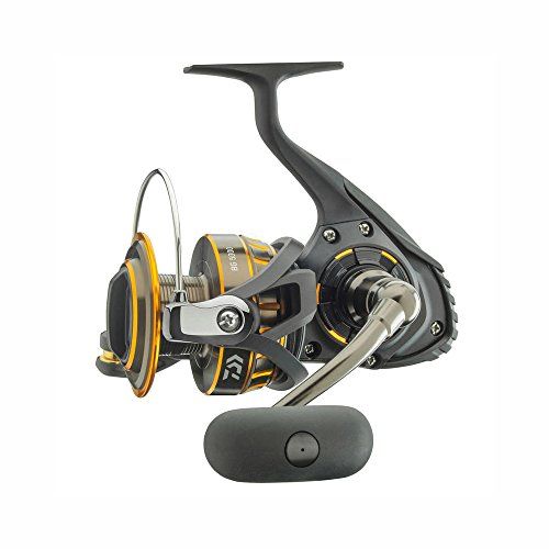 "Daiwa BG2000 BG Saltwater Spinning Reel, 2000, 5.6: 1 Gear Ratio, 6+1 Bearings, 29.50"" Retrieve Rate, 4.40 lb Max Drag"