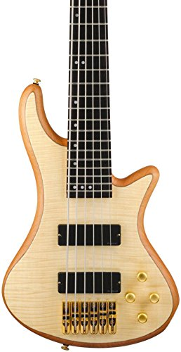 Bass Guitar Natural Satin (Schecter Guitar Research Stiletto Custom 6 6-String Bass Guitar Satin Natural)