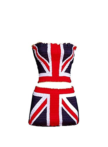Mr France Costume - Fashion Sexy Skirt Outfit Dress Strapless Cotton Euro Football Team Flag 2pc/order (England)