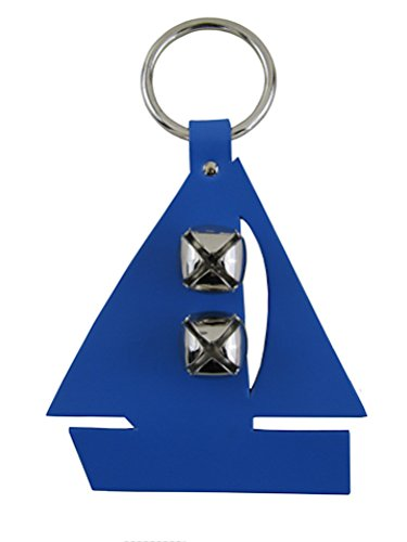 Leather Sailboat Bell Door Hanger ROYAL blueE by Auburn Leathercrafters