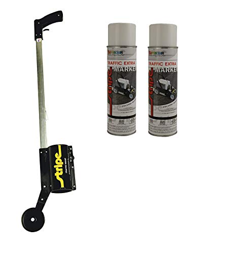 Seymour Paint Z-608 Curb Marking Wand Plus 2-Pack Stripe Extra Marker Spray Paint, White Color
