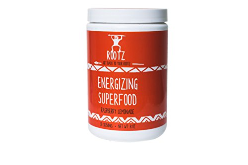 Rootz Energizing-Superfood - Paleo Approved, Keto Friendly and Low Carb, Gluten and Dairy-Free - Raspberry Lemonade - 8 oz by Rootz