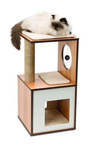 Modern Cat Furniture For Small Apartments, Walnut