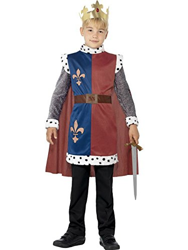 Smiffy's Boys King Arthur Childrens Fancy Dress Costume Size (7-9 (King Fancy Dress Child)