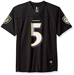Baltimore Ravens Joe Flacco #5 NFL Youth Alternate Black Jersey
