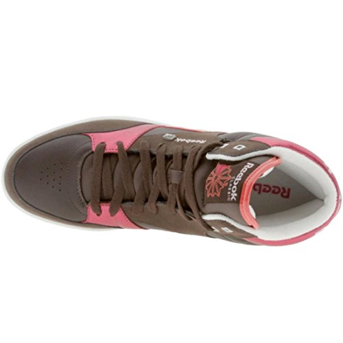 Reebok Womens Courtee Mid (earth / white / red / pink / tutu) EFEAag