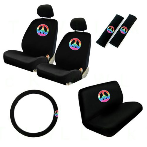 psychedelic steering wheel cover - 1