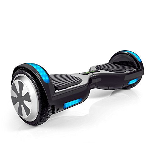 VEEKO Hoverboard Two-wheel Self-balancing Scooter with Bluetooth Speaker - 9.6Km/hr Max 225lbs Max/UL2272 Certified Hover Board/250W Dual Motor/6.5'' Aluminum Alloy Wheels/Black