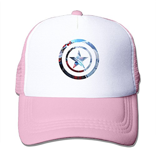 Elnory America Movie Captain Funny Trucker Hat Pink