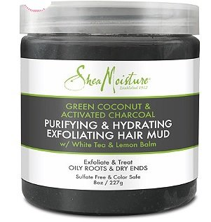Scalp Treatment: SheaMoisture Green Coconut & Activated Charcoal Exfoliating Hair Mud