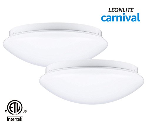 ount Ceiling Light, 12 Inch Dimmable, 16W 86W Fluorescent Equiv, 5000K Daylight, ETL-listed, 3 YEARS WARRANTY, Pack of 2 ()