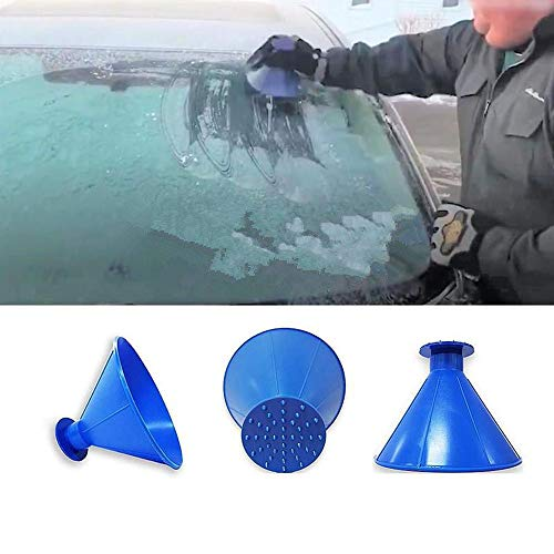 (A Round Ice Scraper GoodLock Car Windshield Snow Removal Magic Cone-Shaped Ice Scraper Snow Shovel Tools)