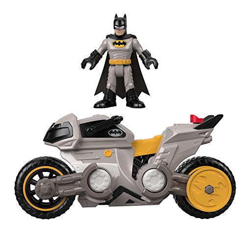 Fisher-Price FXW89 IMAGINEXT DC Super Friends Batman & Batcycle, Multicolor