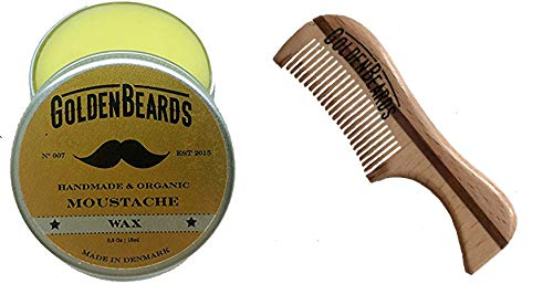 Moustache Wax and Comb an ECO WOOD Comb. Get the BEST Moustache Wax KIT with a 2.9 inch Comb at BEST Price, Save money ordering these Natural products!