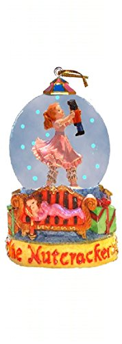 Nutcracker Ballet Gifts Mini Christmas Snow Globe Featuring a Clara & Her Doll in a Winter Wonderland (4.5 inches tall)
