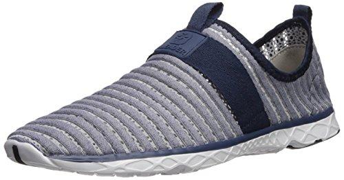 ALEADER Herren Mesh Slip On Water Schuhe Grau / Navy 9976