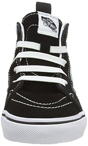 f015f556cf1d Vans Sk8-hi Zip Unisex Baby Sneaker Schwarz (checkerboard black citadel) ...