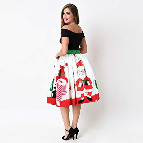 Sixcup Pre No Jupe No Fun Cocktail pour Costumes Retro Automne l l Vintage No Haute plisse Robe Hiver Jupe Taille Jupede Femme 1950s de l lgante Casual rSwU5xrq4