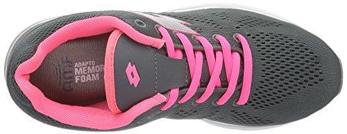 Lotto Ariane Iv Amf W, Zapatillas de Running para Mujer Gris / Plateado (Gry Cem / Slv Mt)