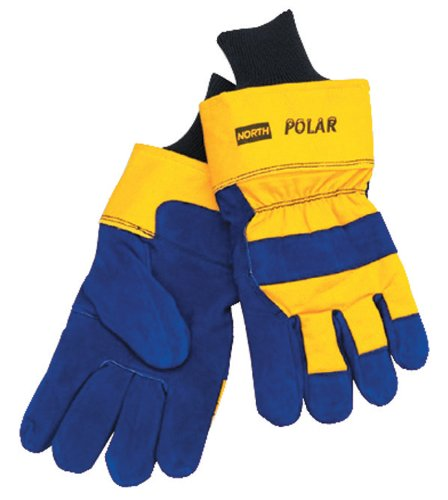 North Safety NSP706465NK Insulated Leather Palm Gloves Bl...
