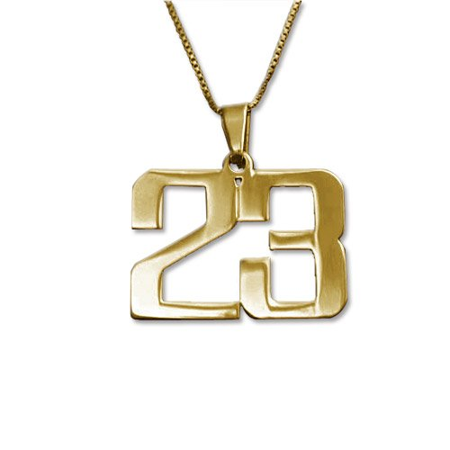 number pendant gold - 2