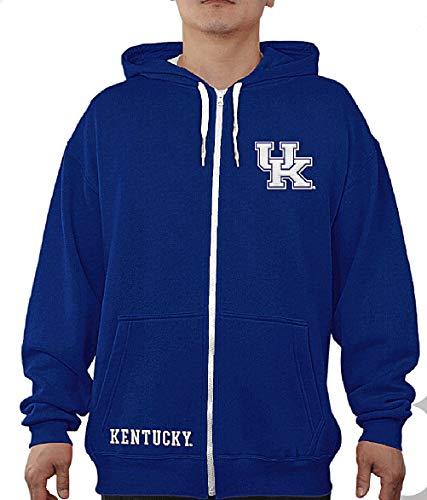 E5 NCAA Men's Audible Embroidered Full Zip Hoodie Sweatshirt (Large, Kentucky Wildcats)