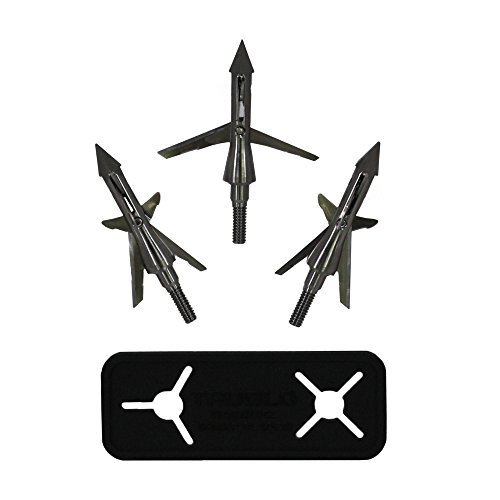 (TRUGLO Titanium X 100-Grain Crossbow Broadheads - 3-Pack, 4-Blade Mechanical)