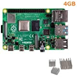Raspberry Pi 4 Model B 4GB(element14 UK製)made in UK &ヒートシンク(3個)セット