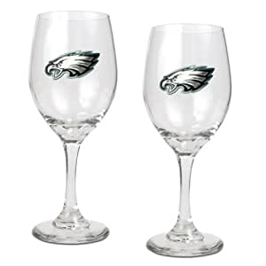 Philadelphia Eagles 2pc Wine Glass Set