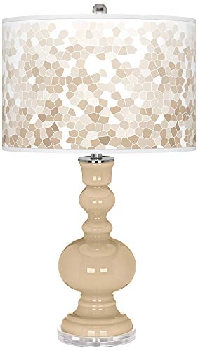 (Colonial Tan Mosaic Giclee Apothecary Table Lamp - Color + Plus)