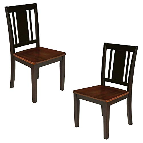 (New Classic Furniture New Classic 40-150-21T Latitudes Dining Chair, Set of 2, Two Tone)