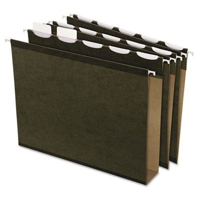 "Pendaflex Ready-Tab Ready-Tab Lift Tab, 2"" Capacity Hanging File Folders, Letter, Green, 20/Box"