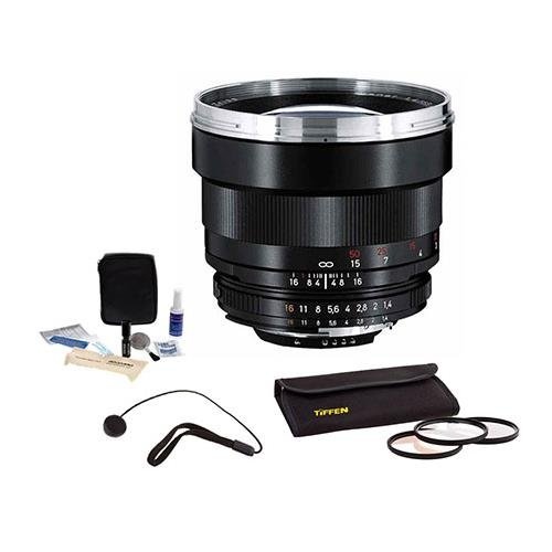 Ais System (Zeiss 85mm f/1.4 Planar T* ZF.2 Manual Focus Lens Kit, for Nikon F (AI-S) Bayonet SLR System. with 72mm Photo Essentials Filter Kit, Lens Cap Leash, Professional Lens Cleaning Kit,)