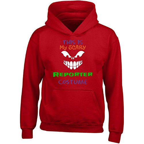 This Is My Scary Reporter Halloween Costume - Girl Girls Hoodie Kids M Red